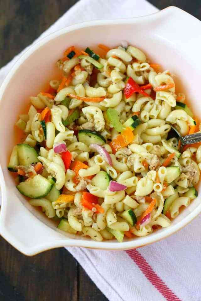 Simple Macaroni Salad  Simple Macaroni Salad Recipe Without Mayo The Pretty Bee
