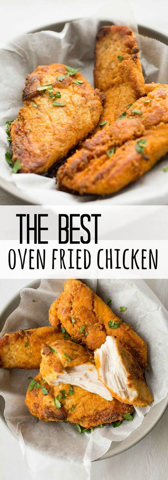 Simple Oven Fried Chicken  The Best Oven Fried Chicken Recipe