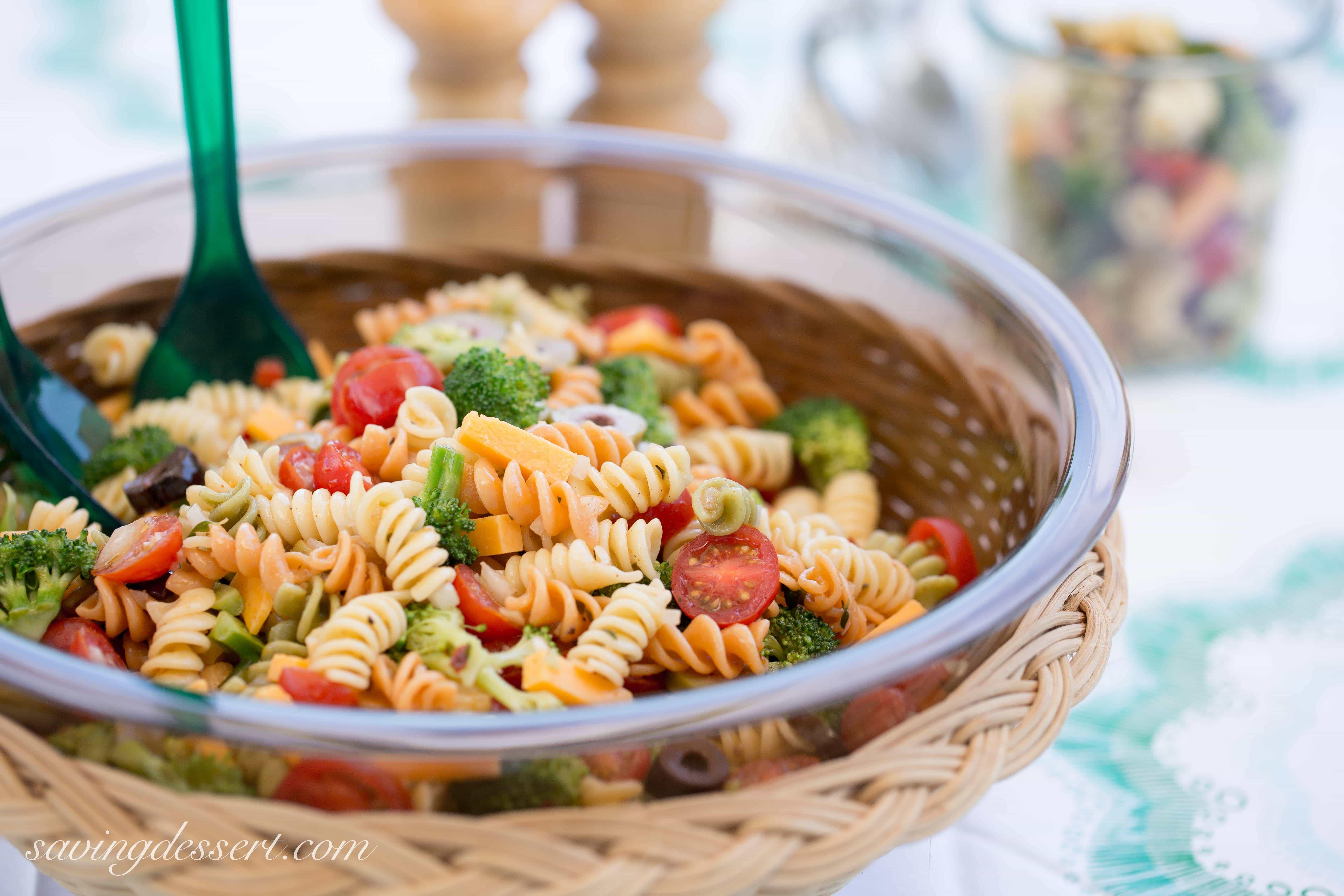 Simple Pasta Salad  Easy Pasta Salad with Zesty Italian Dressing Saving Room