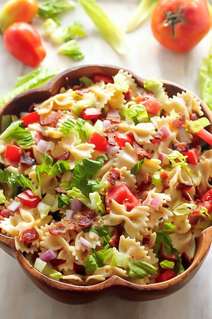 Simple Pasta Salad  20 Minute BLT Easy Pasta Salad Baker by Nature