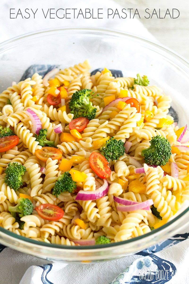 Simple Pasta Salad  Easy Ve able Pasta Salad with Italian Dressing