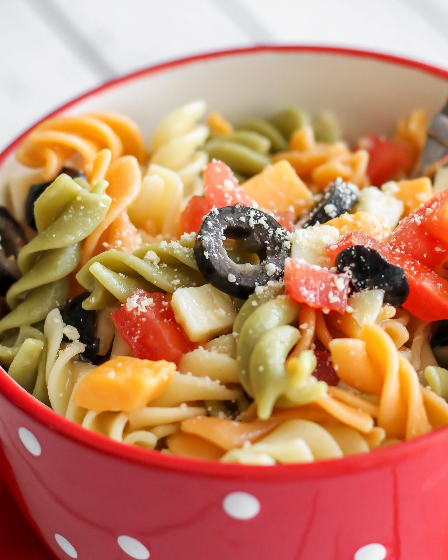 Simple Pasta Salad  Easy Pasta Salad Recipe with Italian Dressing VIDEO