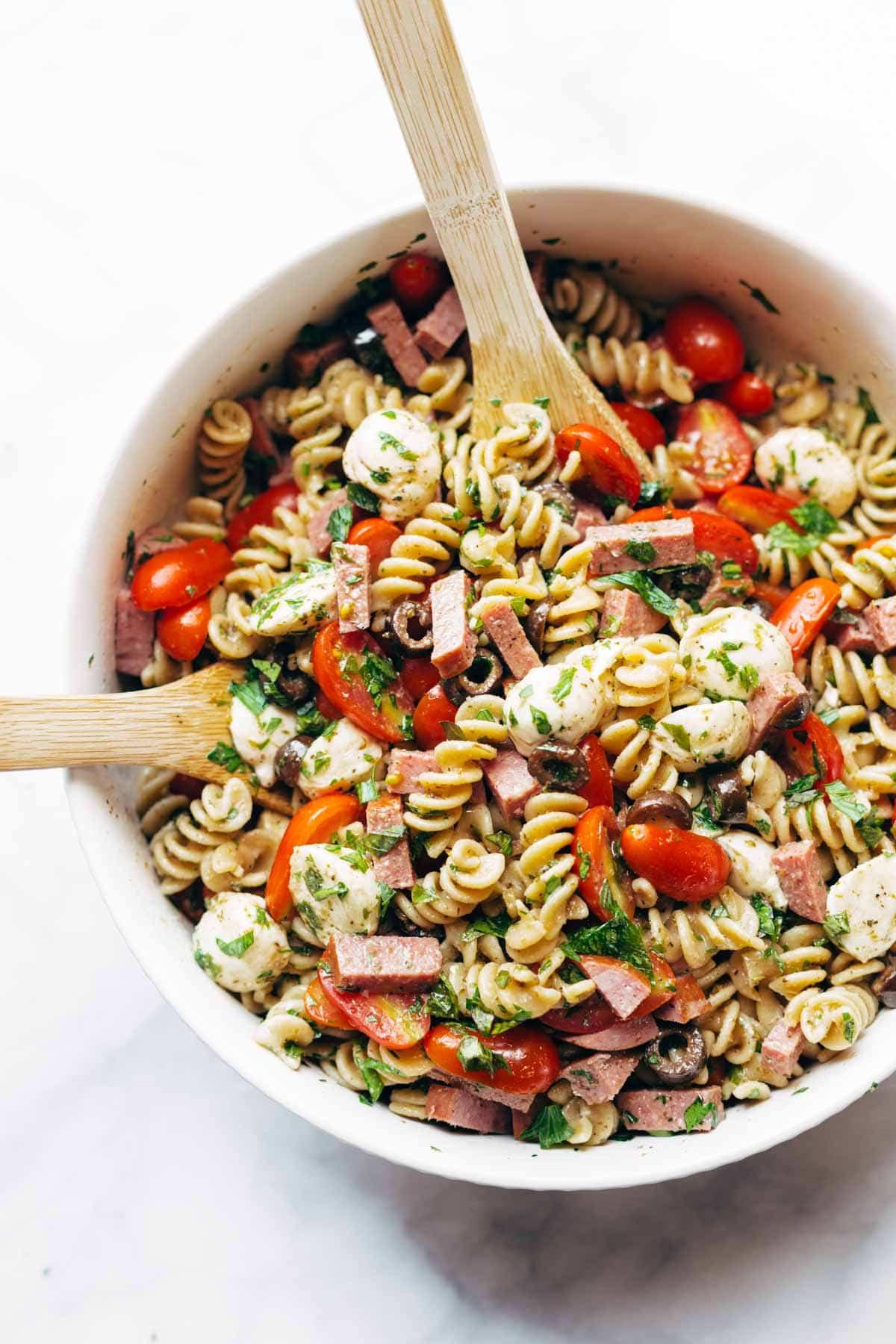 Simple Pasta Salad  Best Easy Italian Pasta Salad Recipe Pinch of Yum