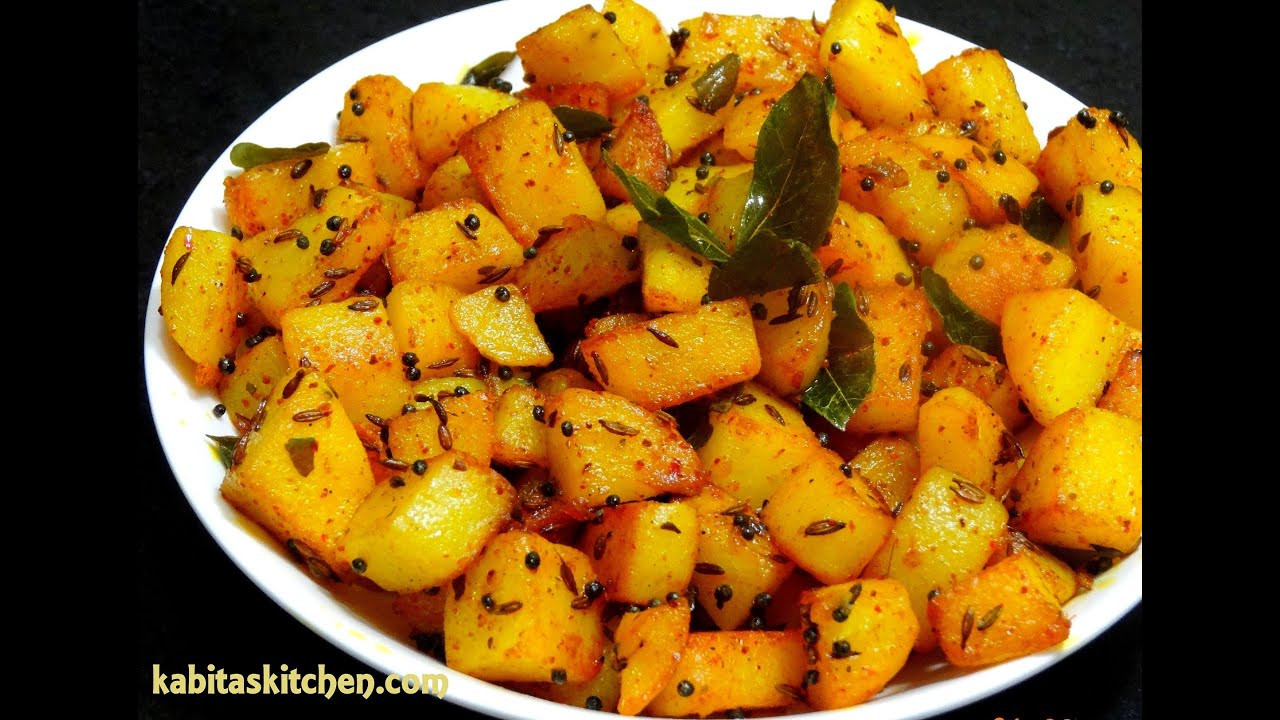 Simple Potato Recipes  Aloo Fry Recipe Simple Potato Fry for Lunch box Easy and