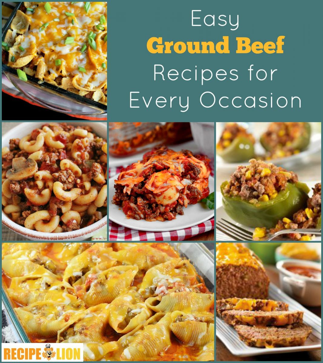 Simple Recipes With Ground Beef  133 Easy Ground Beef Recipes