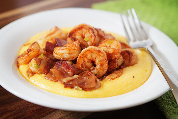 Simple Shrimp And Grits Recipe  My Little Blue Book Kevin and Amanda s Recipes