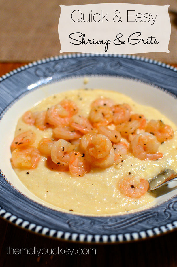 Simple Shrimp And Grits Recipe  RECIPE Quick & Easy Shrimp & Grits