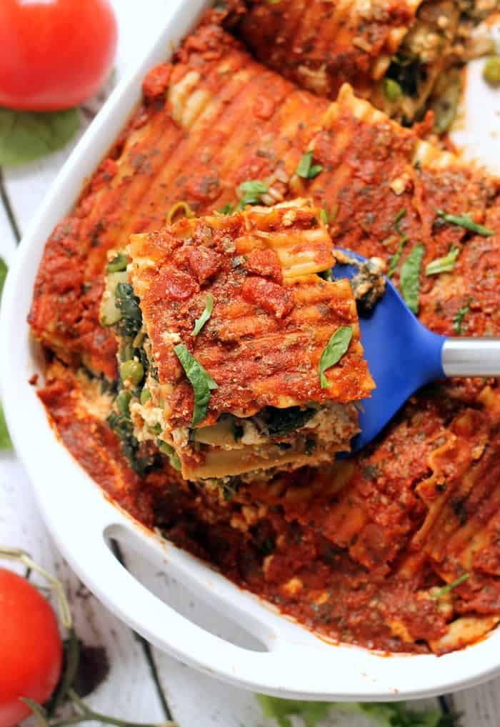 Simple Vegan Recipes  The Best Easy Vegan Lasagna Hummusapien