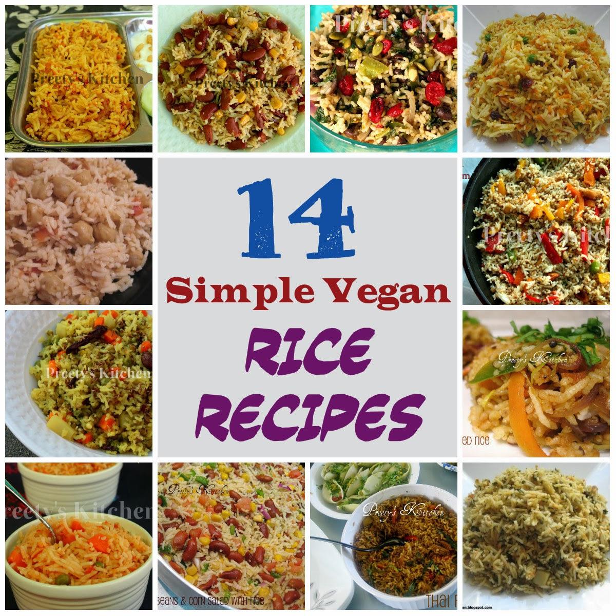 Simple Vegan Recipes  Preety s Kitchen 14 Simple Vegan Rice Recipes