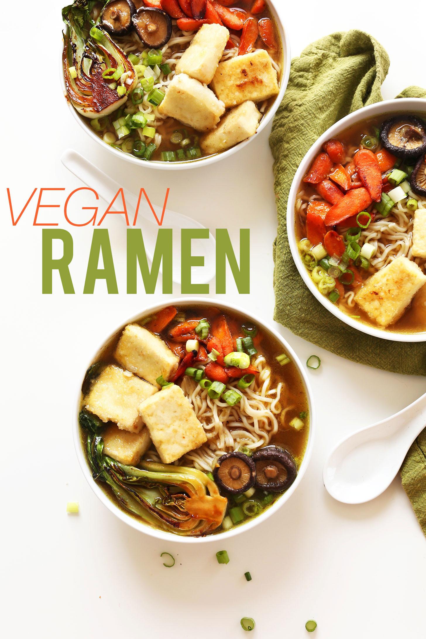 Simple Vegan Recipes  Easy Vegan Ramen