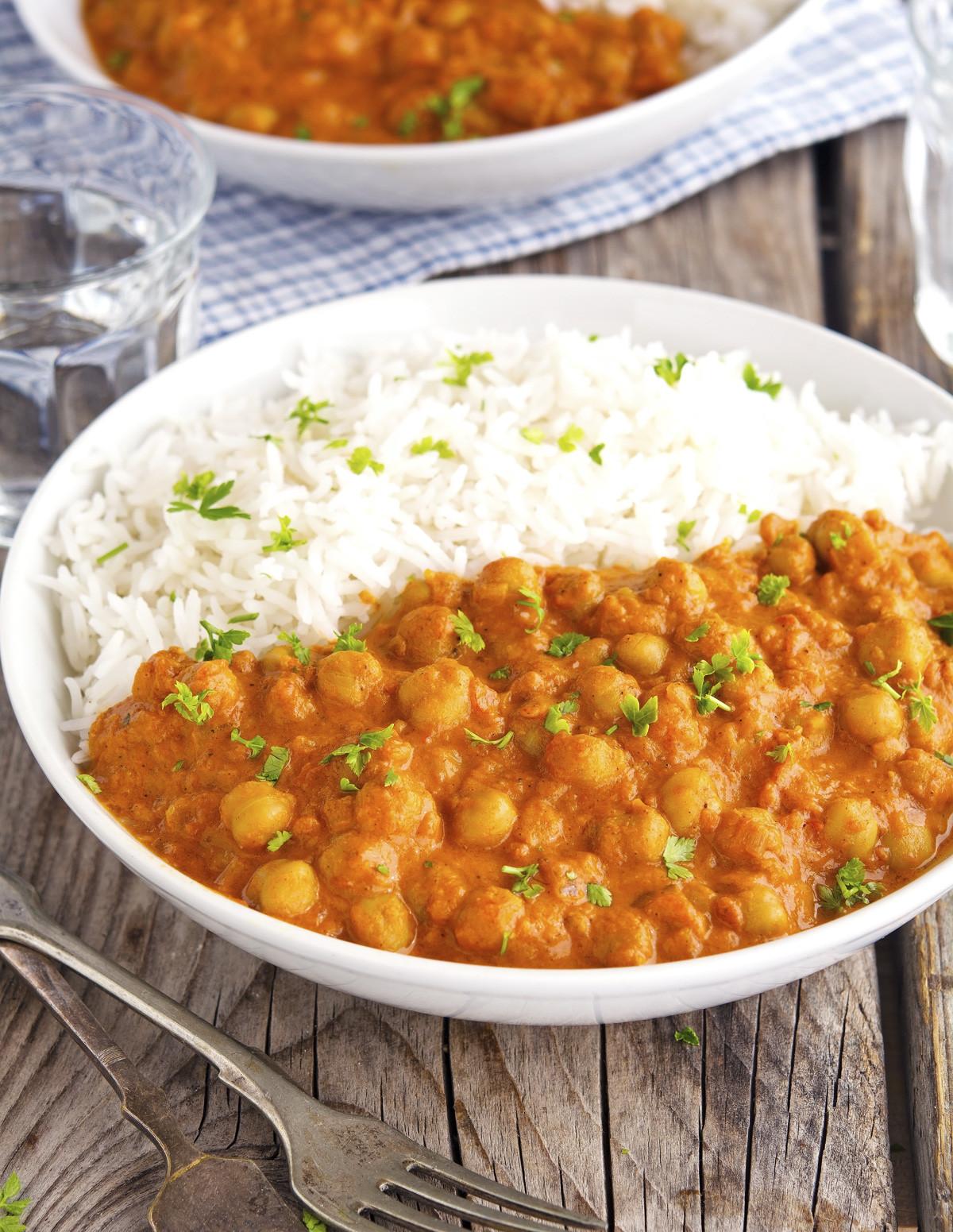 Simple Vegan Recipes  Vegan Easy Chickpea Tikka Masala The Iron You