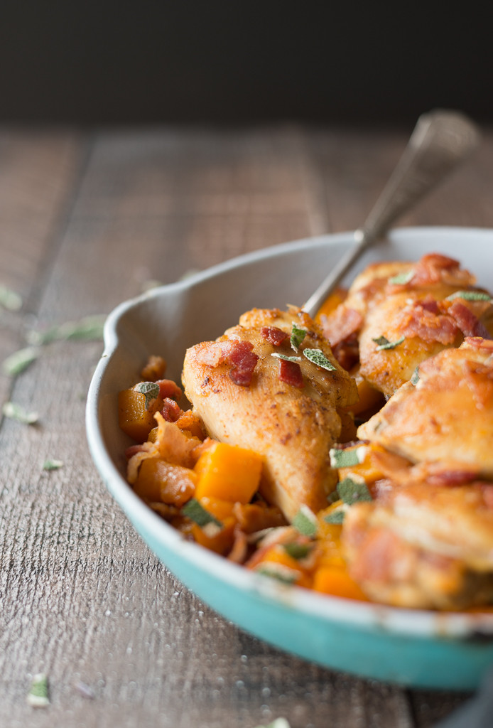 Skillet Chicken Thighs  Easy cast iron skillet chicken recipe that will make your