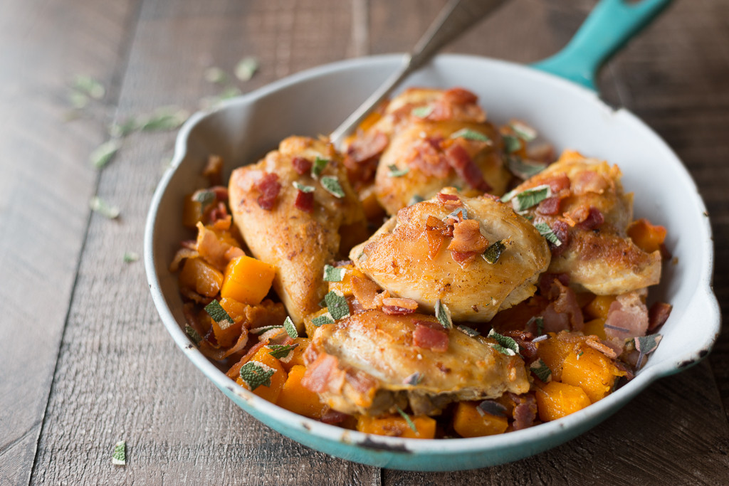 Skillet Chicken Thighs  e Skillet Chicken Thighs with Butternut Squash Eat