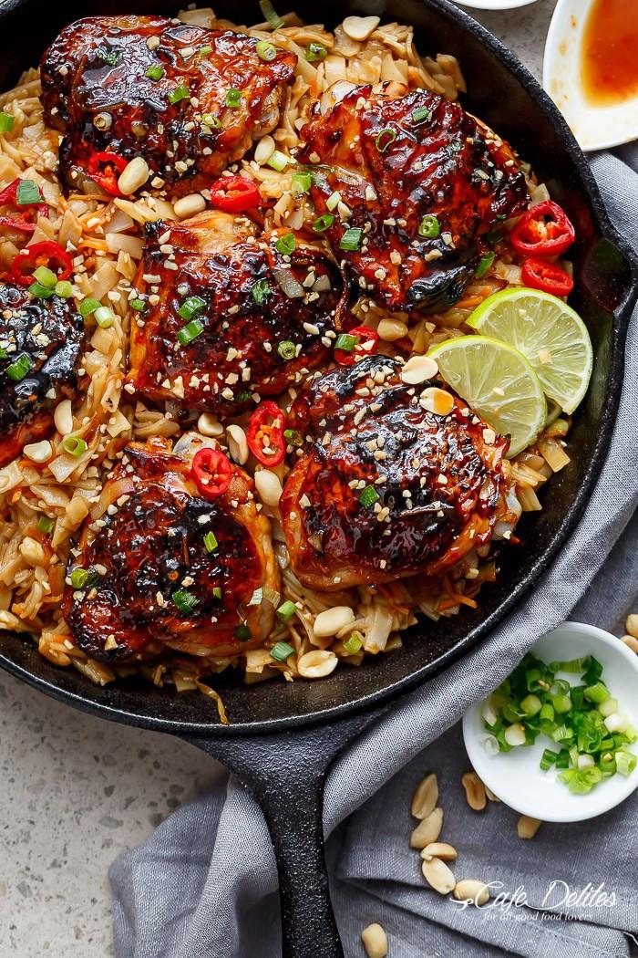 Skillet Chicken Thighs  Weekly Menu Plan 66