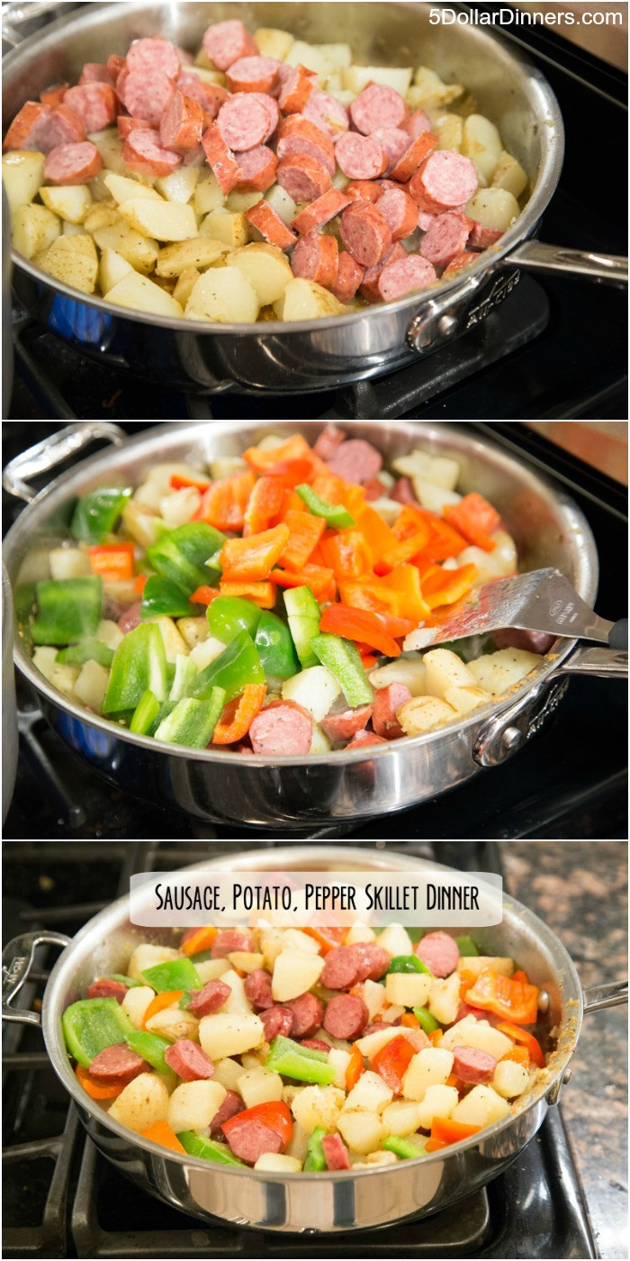 Skillet Dinner Recipes  Recipe for Sausage Potato & Peppers Skillet Dinner