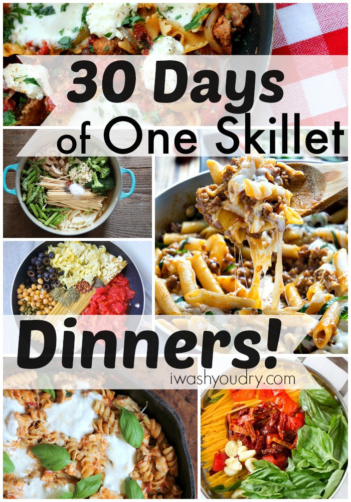Skillet Dinner Recipes  30 Days of e Skillet Dinner Recipes I Wash You Dry