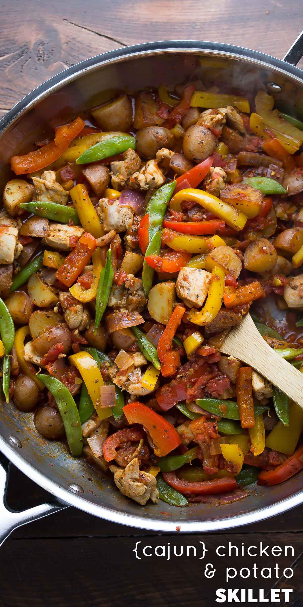 Skillet Dinners Recipes  Healthy Chicken Skillet with Cajun Potatoes and Veggies