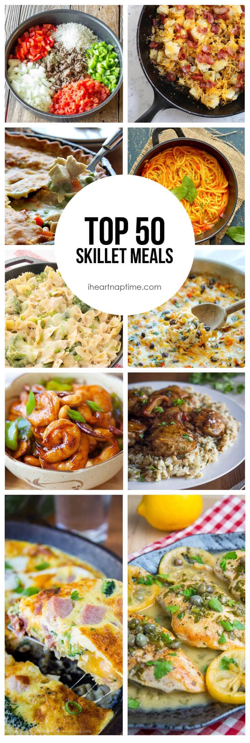 Skillet Dinners Recipes  Top 50 Skillet Meals I Heart Nap Time