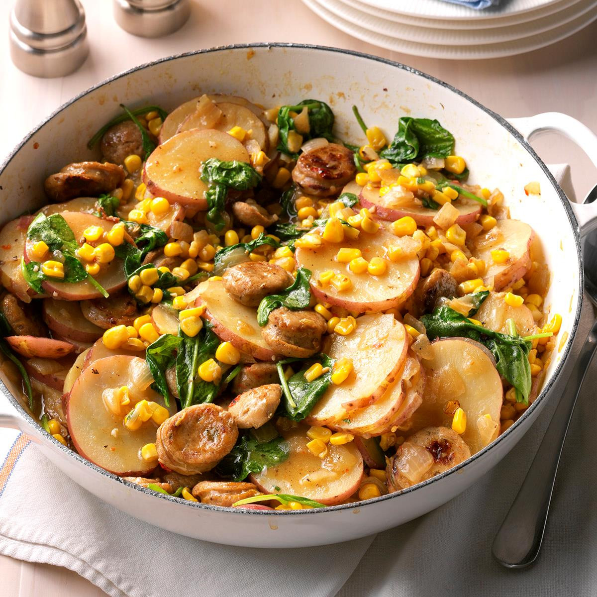 Skillet Dinners Recipes  Sausage & Ve able Skillet Dinner Recipe