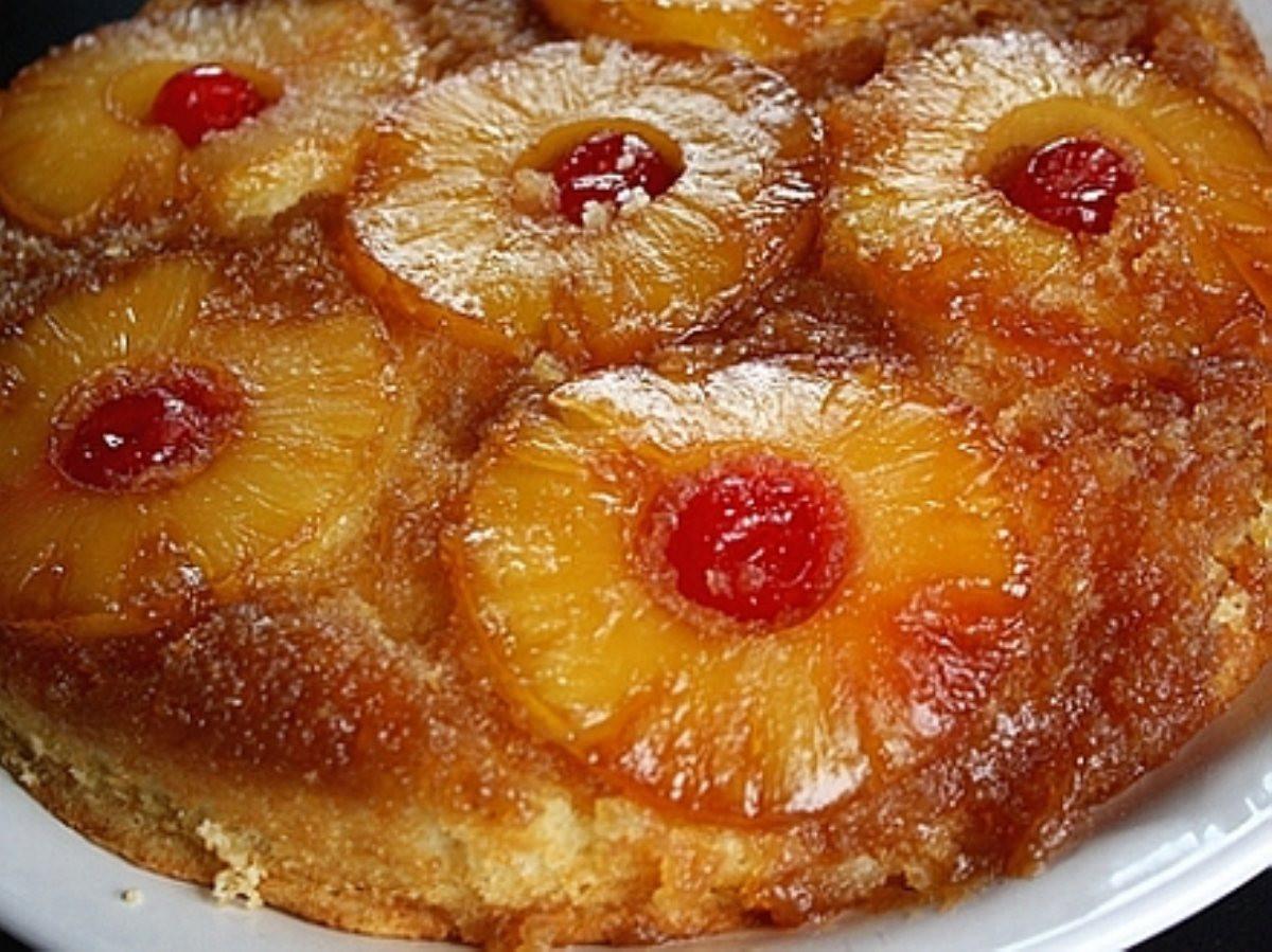 Skillet Pineapple Upside Down Cake  Pineapple Upside Down Cake Skillet BigOven 5660
