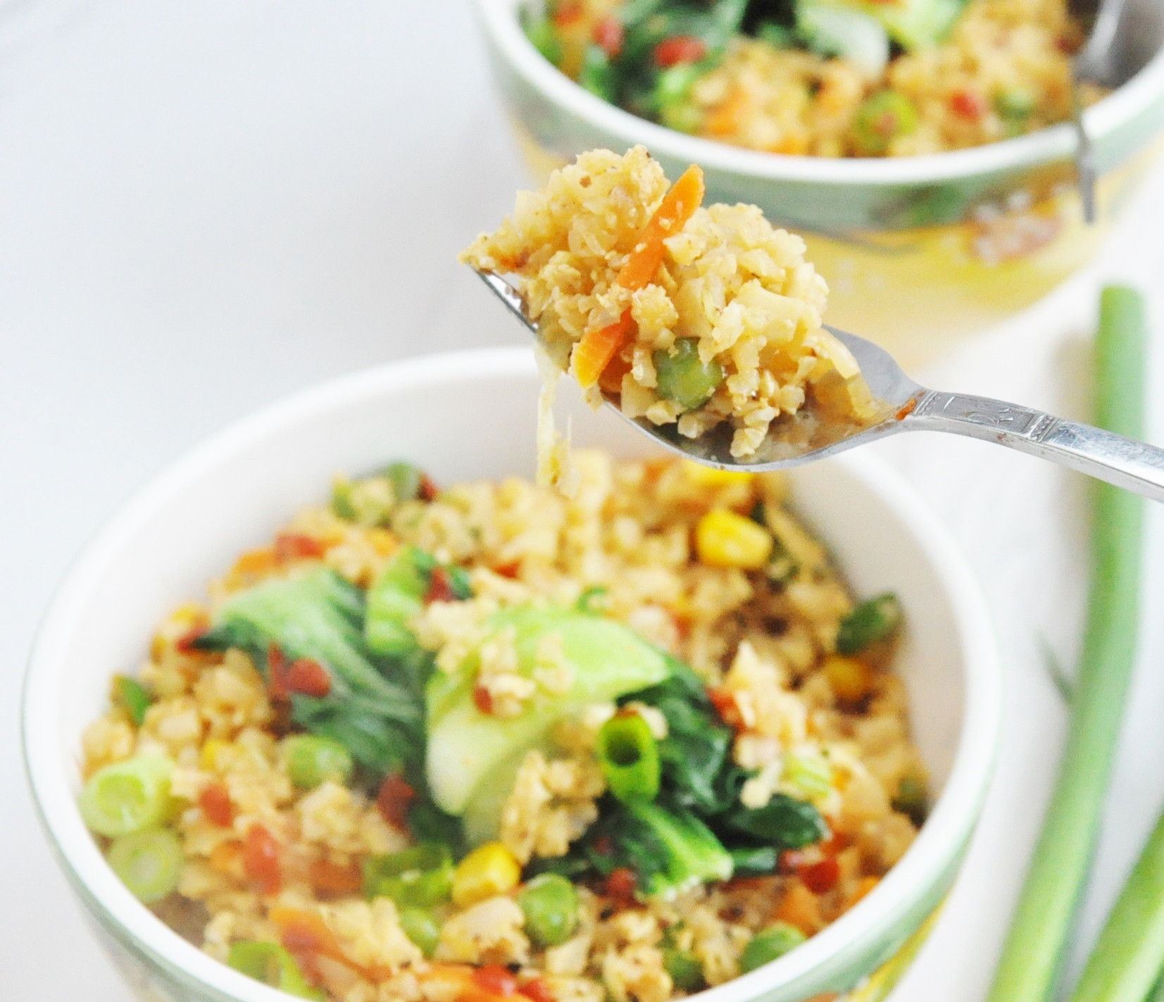 Skinnytaste Cauliflower Fried Rice  cauliflower fried rice healthy