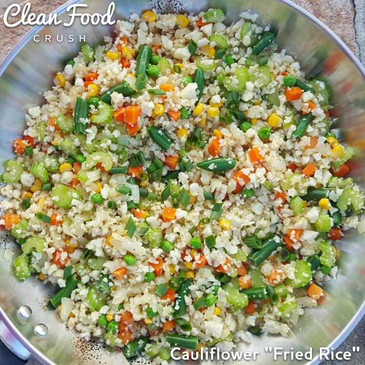 "Skinnytaste Cauliflower Fried Rice  Cauliflower ""Fried Rice"" Skinnytaste"