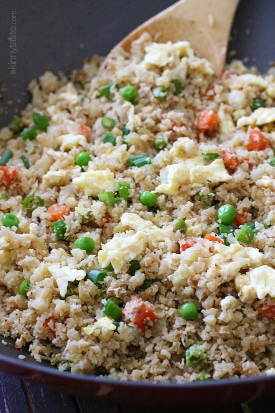 "Skinnytaste Cauliflower Fried Rice  Cauliflower ""Fried Rice"""