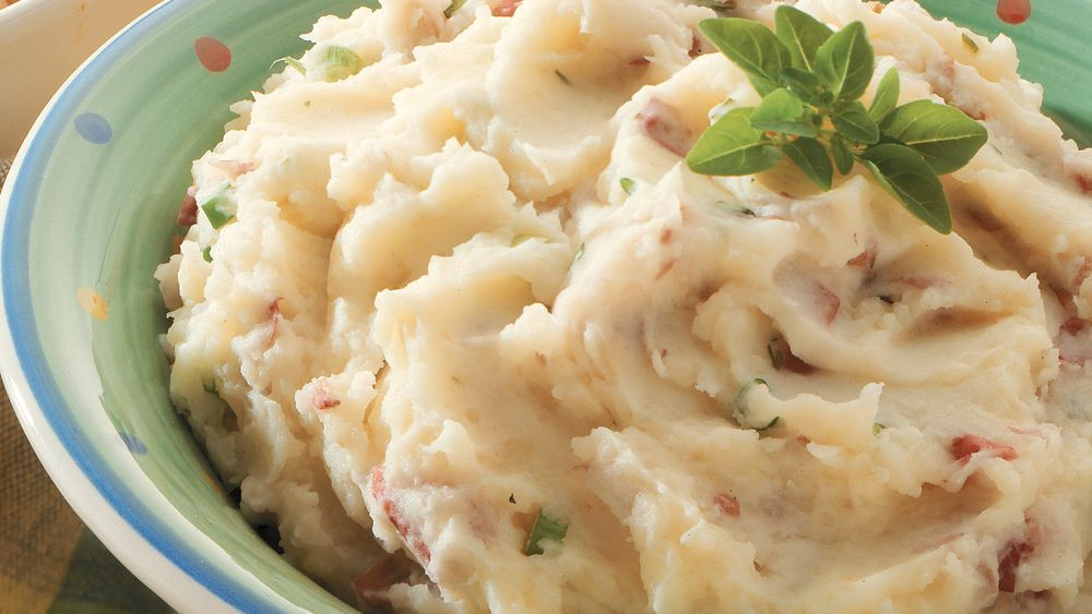 Skins On Mashed Potatoes  Skin Mashed Potatoes recipe from Pillsbury