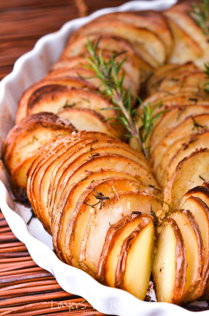 Sliced Baked Potato  Easy Oven Roasted Parmesan Potatoes Layers of Happiness