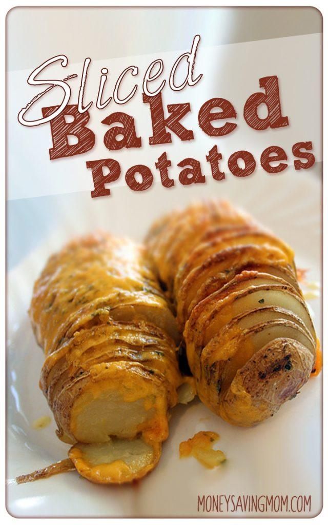 Sliced Baked Potato  Sliced Baked Potatoes Recipe Money Saving Mom