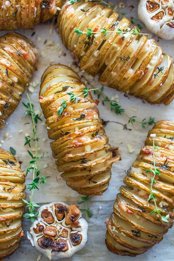 Sliced Baked Potato  baked sliced potatoes recipe