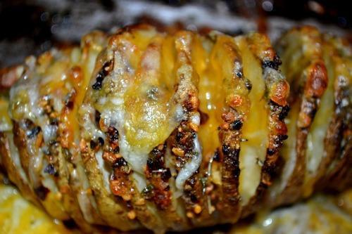 Sliced Baked Potato  Sliced Baked Potatoes Recipe Food