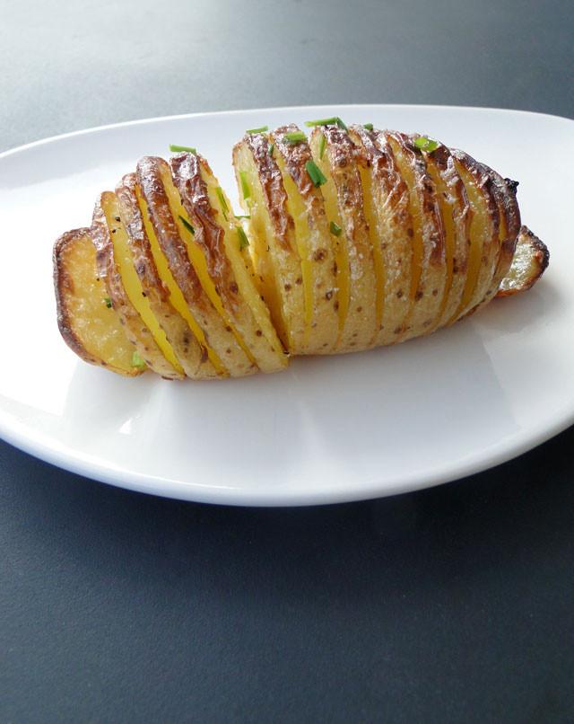 Sliced Baked Potato  Recipe Roundup Sliced Baked Potato