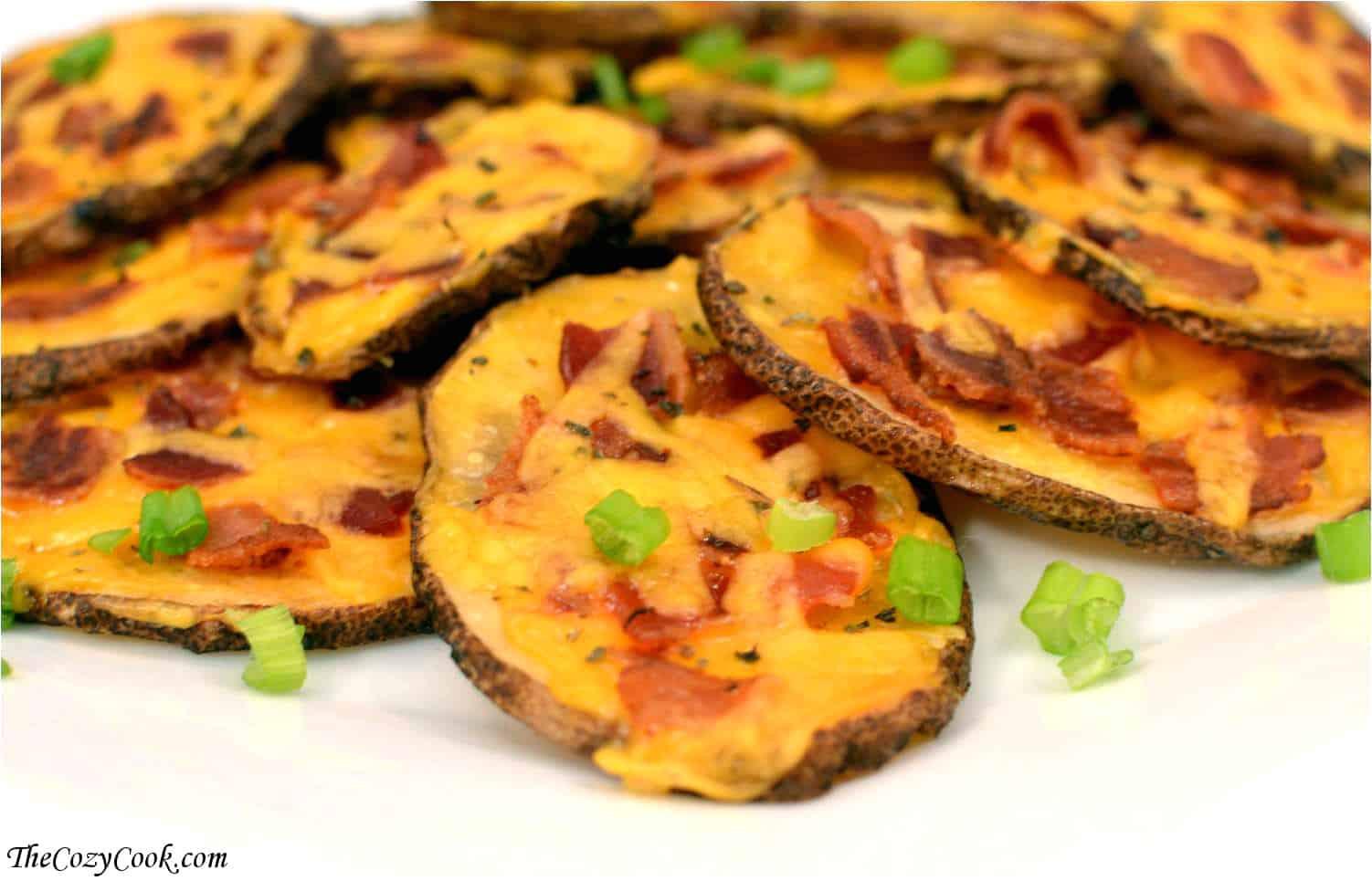 Sliced Baked Potato  sliced potatoes in oven