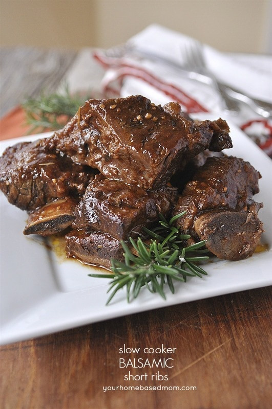 Slow Cook Beef Ribs In Oven  Slow Cooker Balsamic Short Ribs your homebased mom