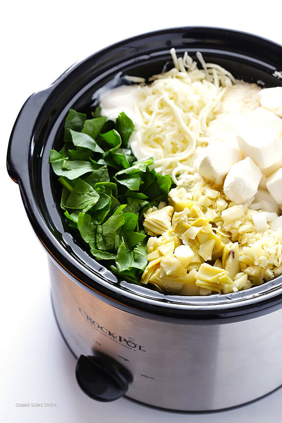 Slow Cooker Appetizers  Slow Cooker Spinach Artichoke Dip