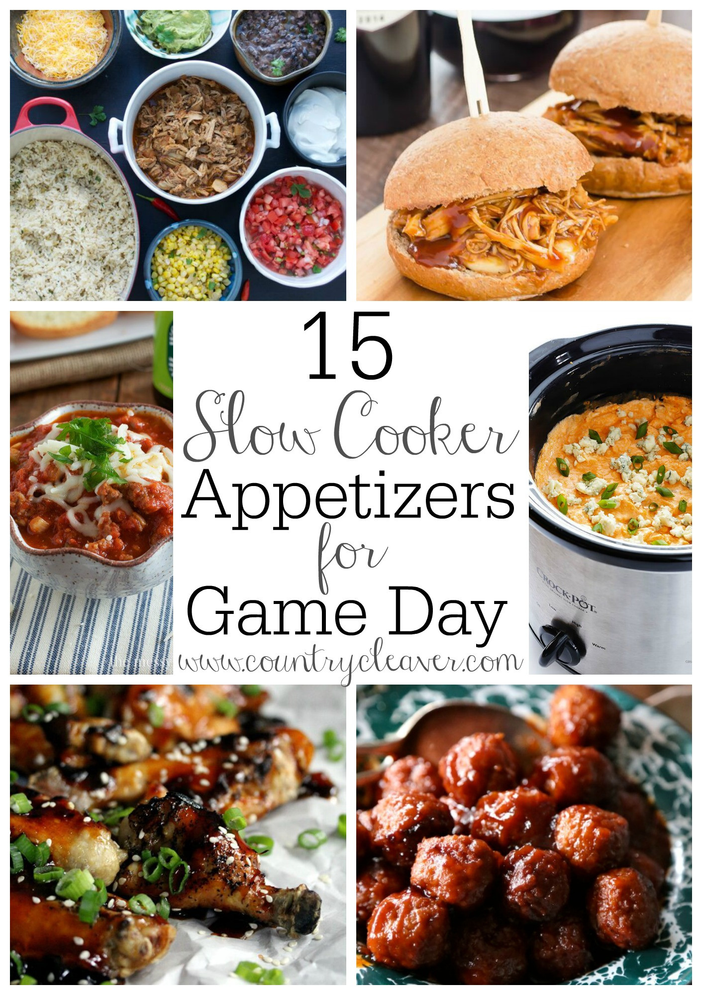 Slow Cooker Appetizers  15 Slow Cooker Appetizers for Game Day Country Cleaver