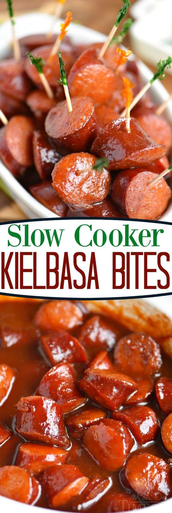 Slow Cooker Appetizers  Slow Cooker Kielbasa Bites Recipe