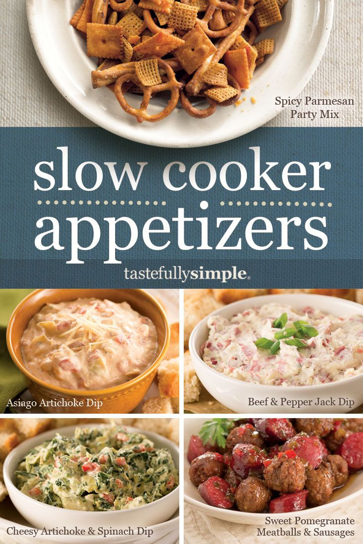 Slow Cooker Appetizers  More than 50 slow cooker appetizers │ Spicy Parmesan