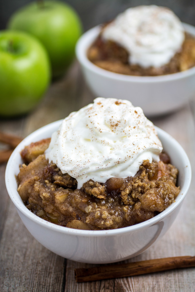 Slow Cooker Apple Cobbler  Slow Cooker Apple Crisp Gluten Free Dishing Delish