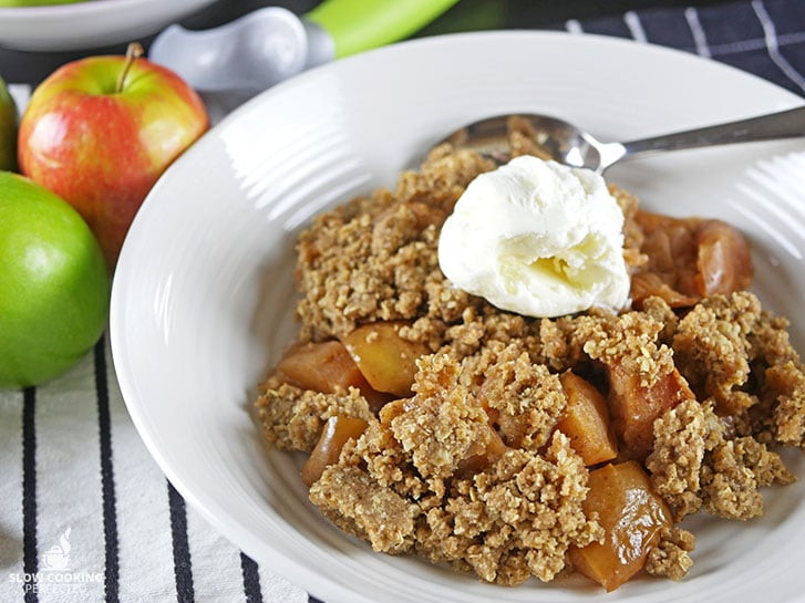 Slow Cooker Apple Cobbler  Delicious Slow Cooker Apple Crisp Slow Cooking Perfected