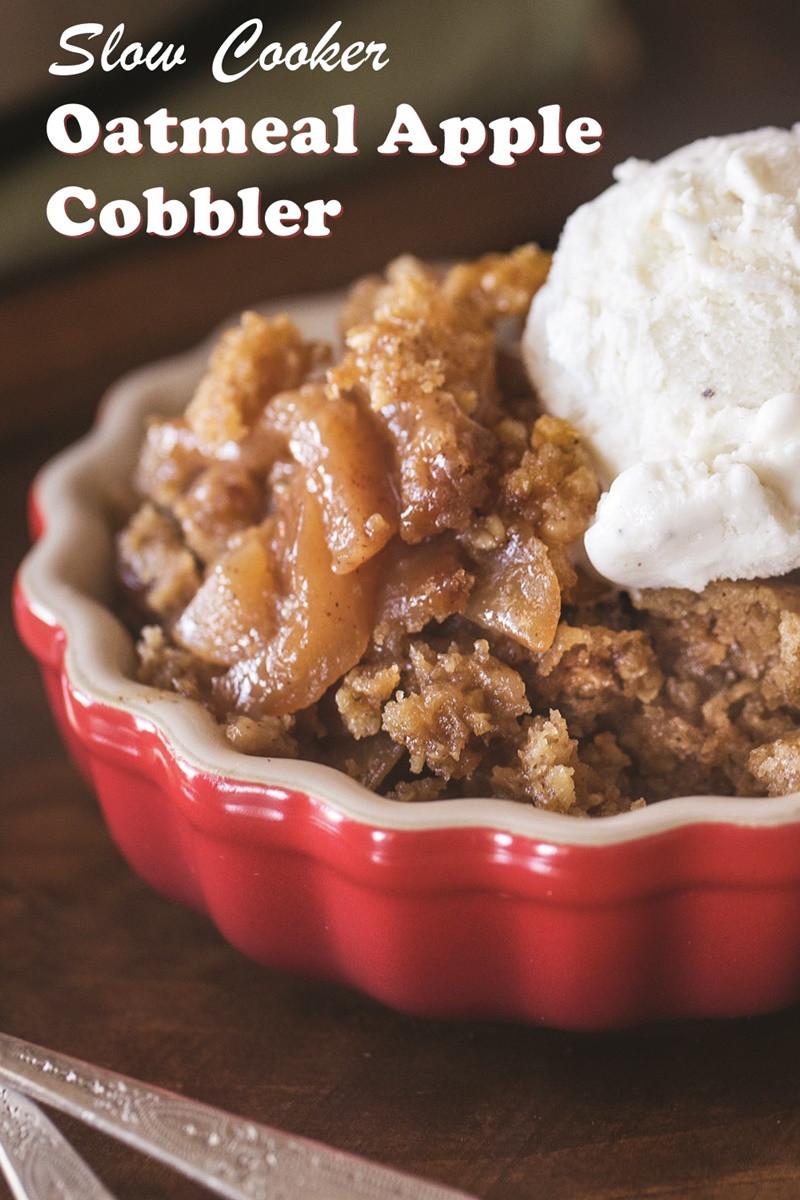 Slow Cooker Apple Cobbler  Slow Cooker Apple Cobbler Recipe Dairy Free & Vegan