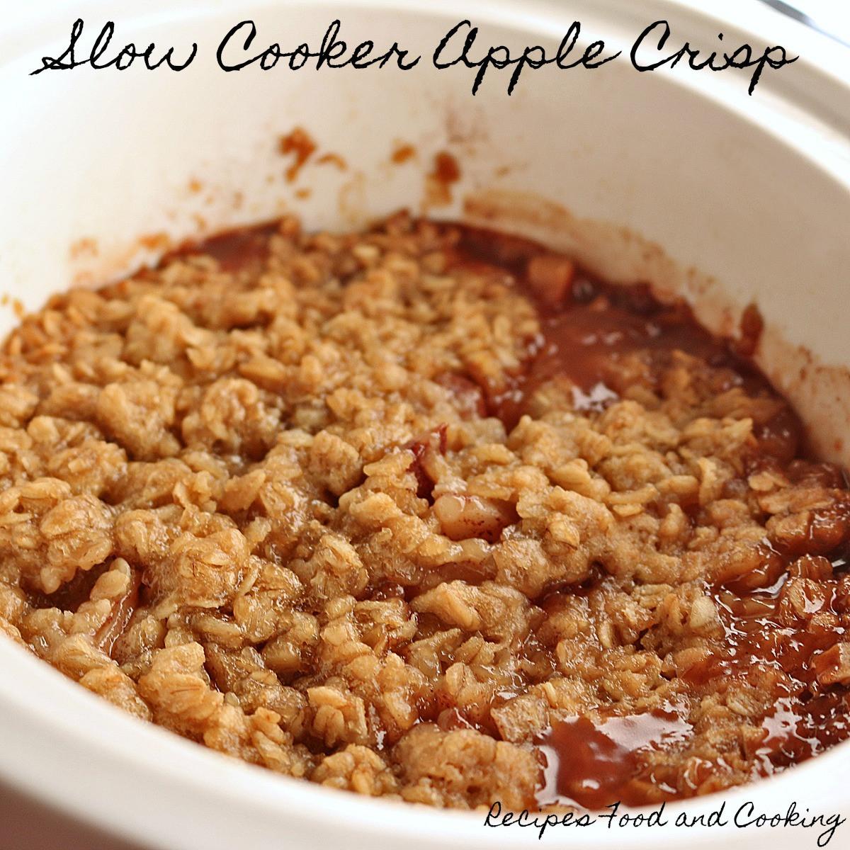Slow Cooker Apple Cobbler  Slow Cooker Apple Crisp