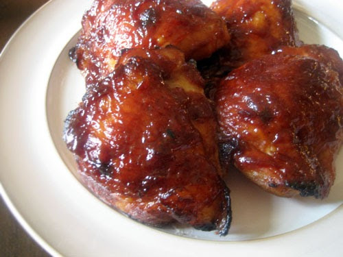 Slow Cooker Bbq Chicken Thighs Bone In  The Nummy Little Blog Oven Baked BBQ Chicken Thighs