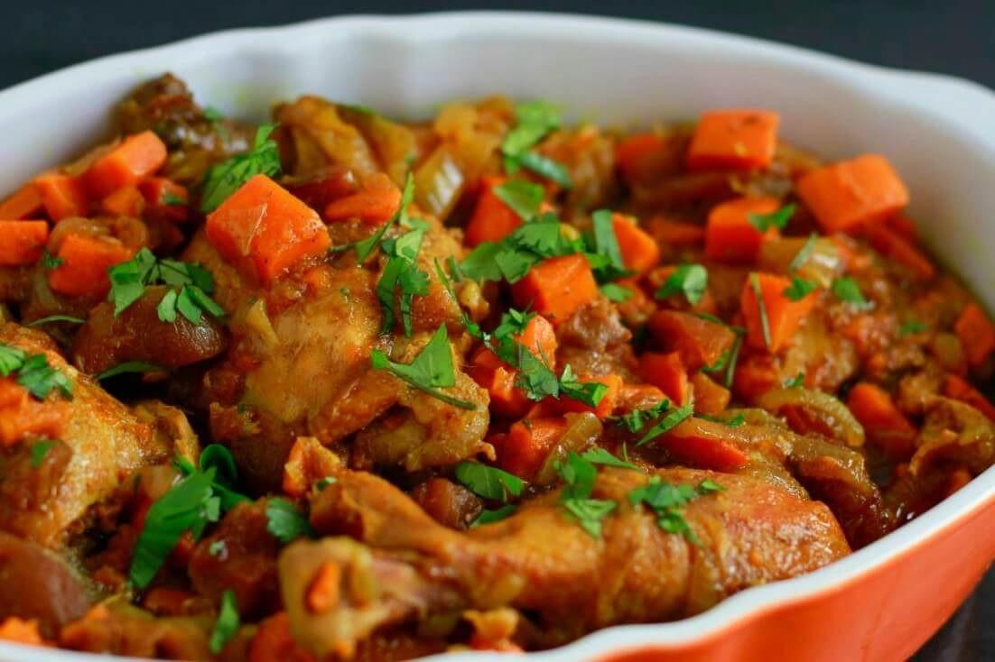 Slow Cooker Bbq Chicken Thighs Bone In  Slow Cooker Chicken Thighs Bone In In Cheery Fall
