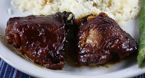 Slow Cooker Bbq Chicken Thighs Bone In  Slow Cooker Saucy Chicken Thighs Recipe