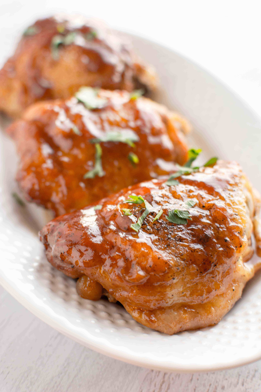 Slow Cooker Bbq Chicken Thighs Bone In  Slow Cooker Honey Chipotle BBQ Chicken Slow Cooker Gourmet