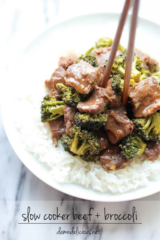 Slow Cooker Beef And Broccoli  31 Crock Pot Dinner Recipes to Make All Month Long