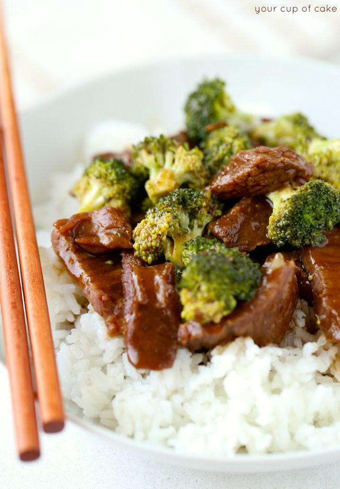 Slow Cooker Beef And Broccoli  Slow Cooker Beef and Broccoli Your Cup of Cake