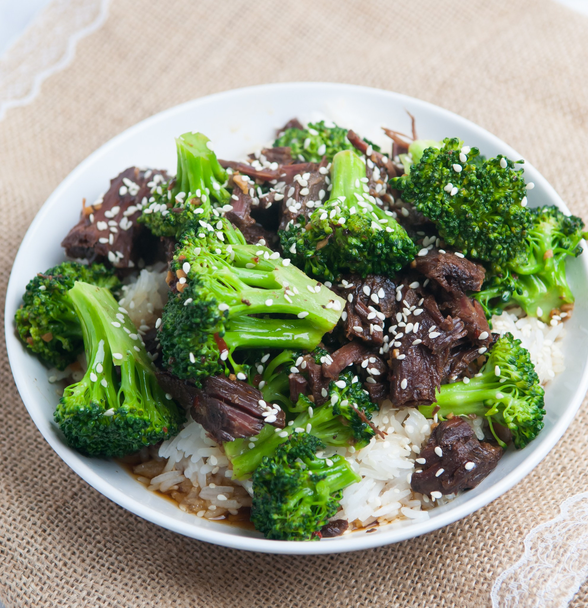 Slow Cooker Beef And Broccoli  Slow Cooker Beef and Broccoli Tabitha Talks Food